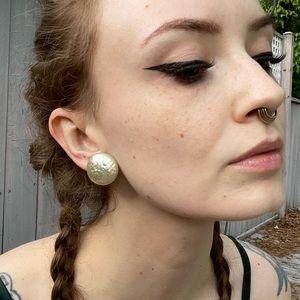 Vintage Miriam Haskell Mother of Pearl Earrings